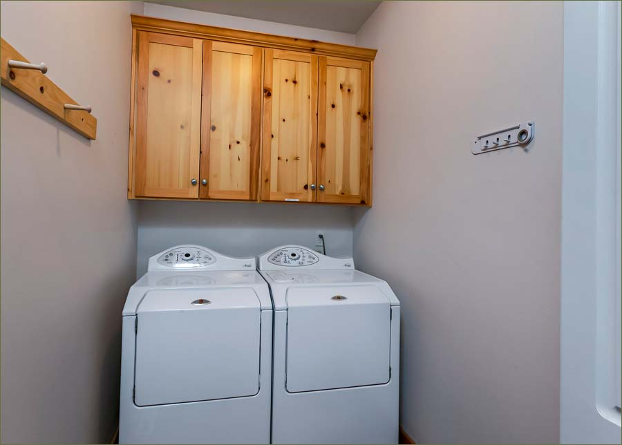 For your convenience the generous laundry room includes a full sized washer and dryer.